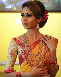 To make it easier for you, we have the top trending beautiful silk saree blouse designs so that you can choose the best for your saree look. Wedding Saree Blouse Designs, Pattu Saree Blouse Designs, Half Saree Designs, Blouse Designs Silk, Designer Blouse Patterns, Blouse Back Neck Designs, Simple Blouse Designs, Stylish Blouse Design, Sari Bluse