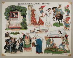 Scholz` Künstler=Aufstellbogen, Märchen. Schneewittchen. Aufstellbilder auf dickem  Papier (33x43 cm) No. 55 K.