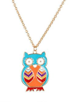 Multi Colored Enamel Owl - View All Accessories - Accessories - dELiA*s