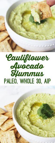 Avocado Cauliflower Hummus (Whole 30, Paleo, AIP) - Unbound Wellness