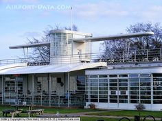 Sywell Aerodrome Airport, Northampton, England United Kingdom - The 1930s Art Deco Bar and Restaurant which was formerly the Clubhouse and Officer's Mess