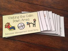 Help manage behaviors for students with special needs and students with autism through the use of visual coping strategies