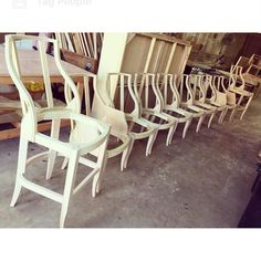 05/12/2016: IT'S A FAMILY! Set of barstools arm chairs and side chairs finished and out for delivery today!  Contact us via phone or email today for your free estimates! Tel: (305) 638-1171 Email: monterofurnitureframes@aol.com de montero_furniture_frames
