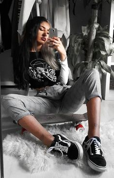 Printed black tee with long sleeved white crop top underneath, plaid pants & Vans shoes by lastofthetrue Check out these awesome 50 edgy grunge looks and get inspired! Hipster Rock, Hipster Grunge, Hipster Shoes, 90s Grunge, Edgy Shoes, Grunge Girl, Grunge Style Outfits, Style Grunge, Stylish Clothes