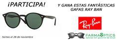 ¡Pariticipa y gana estas gafas de sol de la marca Ray Ban!
