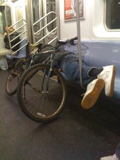 Sleeping under a bike