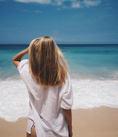 girl, hair, and summer image imagen de niña, cabello e verano Pretty Hairstyles, Girl Hairstyles, Beach Hairstyles, Hair Day, Your Hair, Hair Inspo, Hair Inspiration, Coiffure Hair, Foto Casual