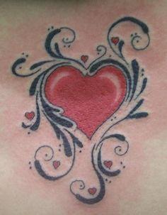 girly tattoo heart