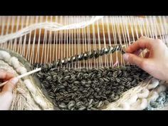 Making a Woven Wall Hanging - Step 5: Loops (pile weave) - Weaving for Beginners - YouTube