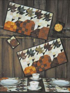 Windy Pumpkins Place Mats & Coasters