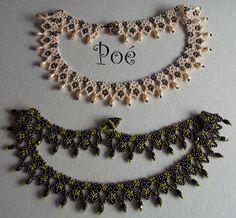 Poé gyöngyei: Kisbékák Crochet Necklace, Beaded Necklace, Necklaces, Beads, Jewelry, Chains, Beaded Collar, Beading, Jewlery
