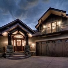 Garage doors with front porch