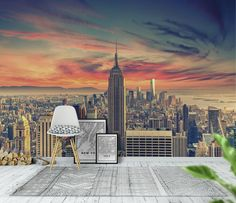 Manhattan sky Tapet
