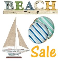 Sale at One Kings Lane. Home decor items for sea lovers. Rustic, fun, beach cottage style.