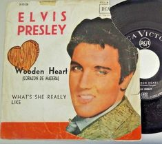 "7"" SNGLE ELVIS PRESLEY - WOODEN HEART Spain, 1962, rare, 1st pressing"