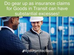 INSURANCE CLAIMS FOR GOODS-IN-TRANSIT ARE TYPICALLY ACCOMPANIED BY SUBSTANTIAL EXCESSES.  Fortunately, Ibiliti's Excess Cover now makes it easier for your business to deal with the financial impact in instances like these.  We'll cover your excesses when you claim for loss of, or damage to your Goods in Transit (GIT), and your underlying insurer settles and deducts your excesses from the claim amount.  In practise, this means that YOUR EXCESS WILL BE SUBSTANTIALLY REDUCED by us, whilst… Business, Cover, Mens Tops, Slipcovers