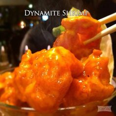 Dynamite Shrimps is another must-try. It's spicy shrimps served cocktail style on a bed of lettuce in a martini glass. Ingredients For the Sauce: cup mayonnaise 1 tablespoon plus 1 teaspoon Asian chili sauce (such as sambal oelek) 2 teaspoons Shrimp Dishes, Shrimp Recipes, Fish Recipes, Appetizer Recipes, Great Recipes, Chicken Recipes, Appetizers, Favorite Recipes, Salmon Dishes