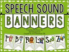 What's better than functional decor in your therapy room?! These speech sound banners are just that with each of the following phonemes represented: P, B, T, D, M, N, F, V, K, G, S, Z, R, L, TH, SH, CH, J, W, H, YThe pictures, fonts, and phoneme cues used on these banners coordinates perfectly with my Articulation Puzzles.Instructions: Print and laminate for added durability.