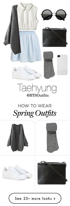 """Spring Outfit Inspired by Taehyung"" by btsoutfits on Polyvore featuring moda, BCBGMAXAZRIA, The Row, adidas, maurices, Incase, women's clothing, women, female e woman"