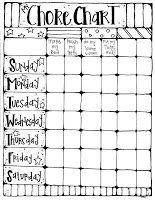 Printable Chore Chart  Chart Free Printable And Printable Chore
