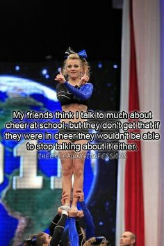 Ohh thats me! Talking about Cheerleading!!!