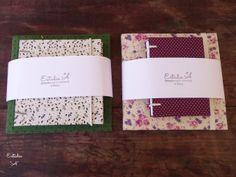 Conjuntos Combo com duas cadernetas em tamanhos variados. www.estudioaatelier.wordpress.com estudio.a@hotmail.com.br