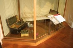 George Washington's actual cot and camp site during the Revolutionary War.