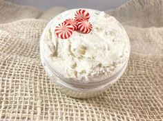 CANDY CANE BODY Butter | Whipped Shea Butter | Christmas Gift | Stocking Stuffer | Natural Skin Care | Dry Skin Body Butter | Organic Lotion by EssentialBeautanics on Etsy