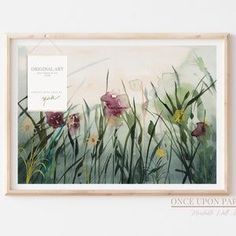 Botanical Illustration of a Wildflower meadow, Flower print, Wild flower print, Wild flowers art, Botanical wall art, Floral wall art