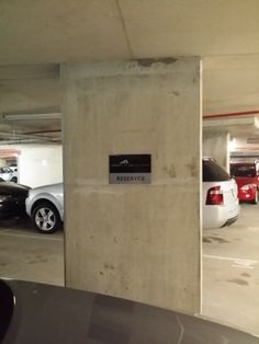 HQ Robina - Carpark reserved signage, do you have issues with carpark signage, we can help