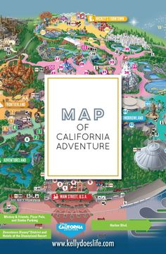 Get ready for your trip out to Disneyland in California. Help plan your trip by checking out the California Adventure map before your trip! Disneyland Map, Disneyland California, Disneyland Resort, Disney Cruise, Disney Vacations, Disney World Tips And Tricks, Disney Tips, Disney Love, Best Vacation Destinations