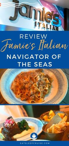 During its recent update, the newly amplified Navigator of the Seas received several new dining establishments. Among the new additions to the ship was Jamie's Italian. We have dined at Jamie's Italian on a few other occasions and find the food and service to be well worth the added costs. On this recent cruise, we decided to head back to the venue once again and provide you with our review of Jamie's Italian on Navigator of the Seas. #cruise #cruisefood #eatsleepcruise #RoyalCaribbean Cruise Prices, Cruise Ship Reviews, Royal Caribbean Ships, Royal Caribbean Cruise, Jamie's Italian, Navigator Of The Seas, Cruise Pictures, Royal Caribbean International, Cruise Excursions