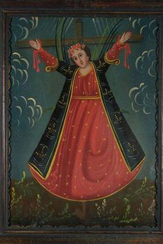 Saint Wilgefortis pray for us and relief from tribulations especially women in abusive marriages.  Feast day July 20.