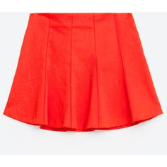 FLOUNCE SKIRT - SKIRTS-WOMAN-SALE | ZARA Canada (120 BRL) ❤ liked on Polyvore featuring skirts, frilly skirt, red ruffle skirt, frill skirt, frilled skirt and flounce skirt