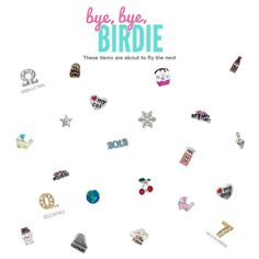 Bye bye birdie, these beauties are flying the coop to make room for our new spring collection at Origami Owl, snatch them up before they're gone! www.florida.origamiowl.com Amber Butyn, Independent Designer #39853