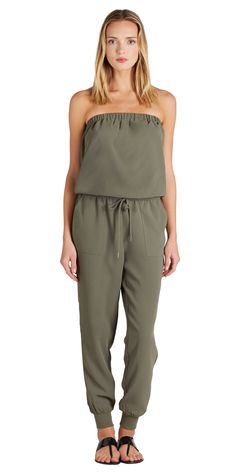 A current Joie bestseller! The Fairley Jumpsuit in Fatigue.