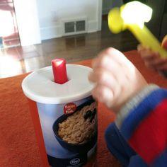 Kids DIY: A Homemade Oatmeal Box Hammer Toy