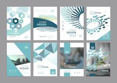 set of modern business paper design templates. vector illustrations of brochure covers annual reports flyer design layouts business presentations ads and magazine business stationary collection. Layout Design, Design De Configuration, Graphic Design Layouts, Banner Design, Company Profile Design, Business Stationary, Flyer Design Templates, Ppt Template, Brochure Template