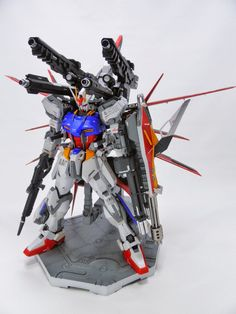 GUNDAM GUY: MG 1/100 Aile Strike Gundam IWSP - Customized Build