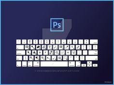 Photoshop Keyboard Shortcuts QWERTY by ensombrecer.deviantart.com on @DeviantArt