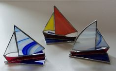 3D Stained Glass Sailboat Small and Fun by LanieMarieDesigns