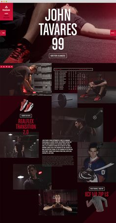 Reebok Training - Live with Fire by Louis Paquet, via Behance
