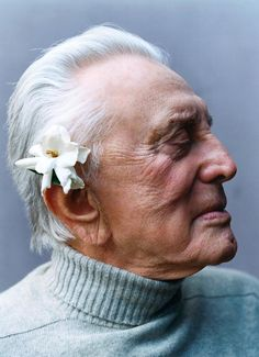Kirk Douglas by Peggy Sirota /// Notorious serial rapist, posing in his public persona as a so-called movie star, though his full time employment was sexual sadism. He should be in jail, but the double-standards of that nasty little industry have given him shelter against all accusers. May he burn in hell. AC