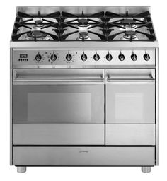 SMEG C92GMX8 90cm STAINLESS TWIN OVEN DUAL FUEL FREESTANDING COOKER