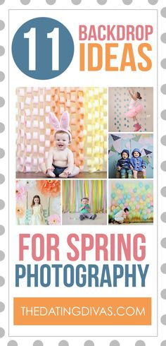 DIY Photography Backdrop Ideas.  These are perfect for Spring or Easter mini sessions.
