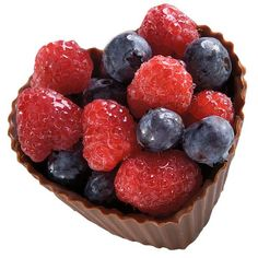 Ripe for Romance Dessert - Candy shells are a sweet way to serve dessert. Fill them with fresh fruit, pudding or a scoop of ice cream. Fill them with nuts, pretzels or other finger foods when the bridge club meets at your house!