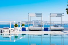 Located on the Greek island of Mykonos, famed as the party capital of the Cyclades, this boutique hotel offers welcome respite from the pulsing nightlife and glitzy bars.