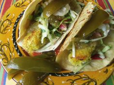 Crispy Baked Chicken Tacos With Cilantro Slaw - Hispanic Kitchen