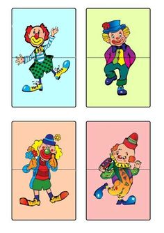 puzzle – – album na Rajčeti Clown Crafts, Circus Crafts, Carnival Crafts, Painting For Kids, Art For Kids, Theme Carnaval, Christmas Classroom Door, Le Clown, Kids Class