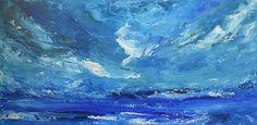 Roaring Thunder - painting by Jane See @janeseeart #Thunder #Waves #Seascape #abstractart